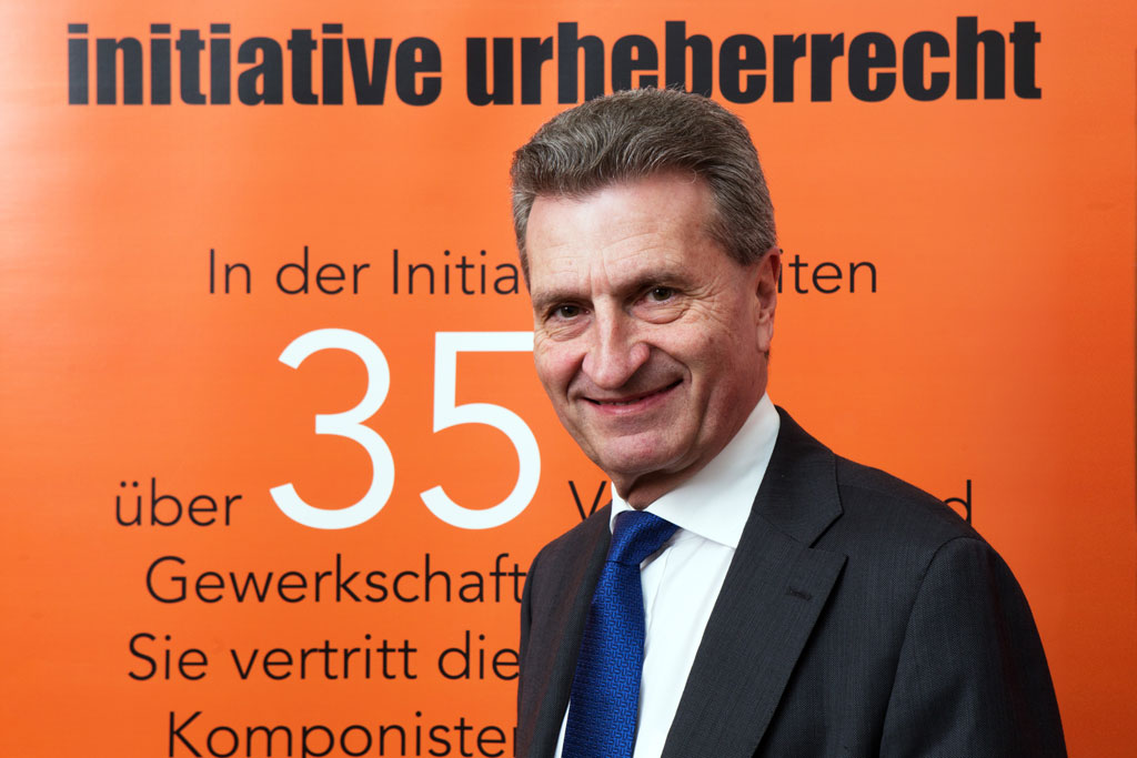 Berlin | Musicians, actors and authors/composers meet Commissioner Oettinger